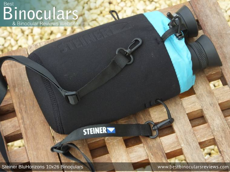 Inside the Steiner BluHorizons 10x26 Binoculars Carry Case