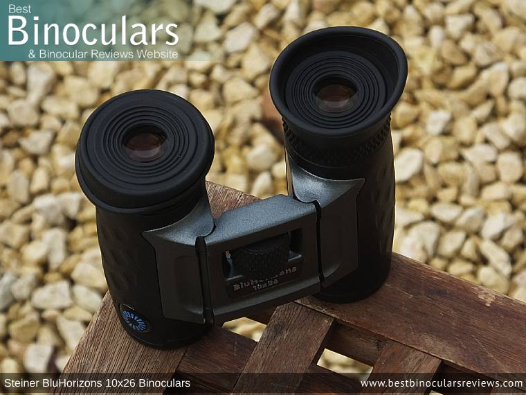 Eyecups on the Steiner BluHorizons 10x26 Binoculars