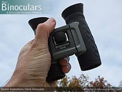 Holding the Compact Steiner BluHorizons 10x26 Binoculars