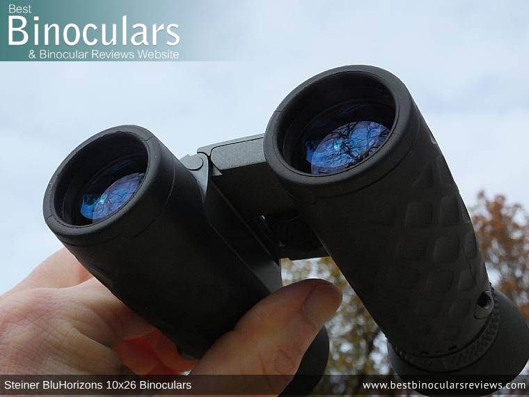 26mm Objective Lenses on the Steiner BluHorizons 10x26 Binoculars
