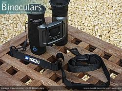 Neck Strap included with the Steiner BluHorizons 10x26 Binoculars