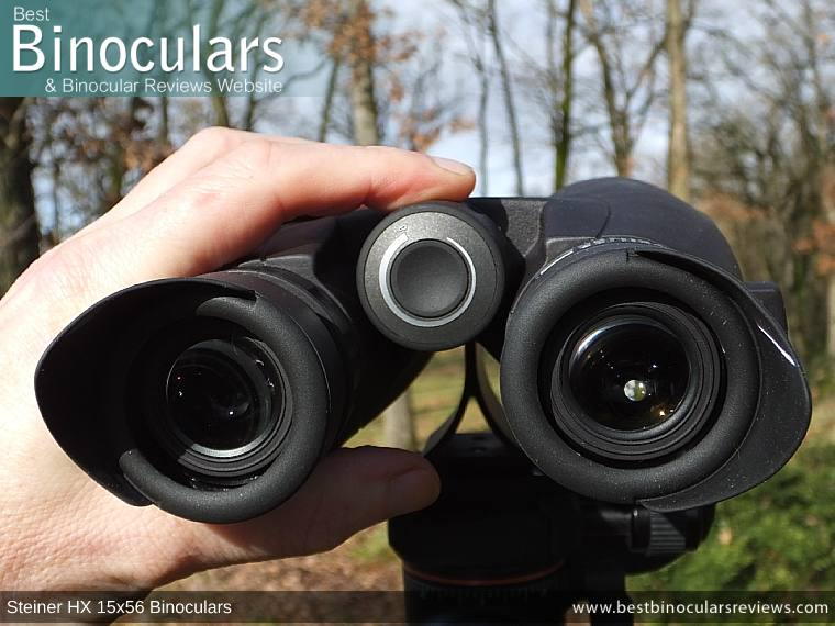 Focus Wheel on the Steiner HX 15x56 Binoculars