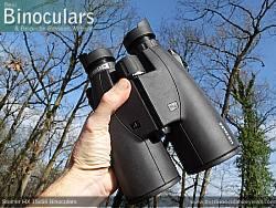 Holding the Steiner HX 15x56 Binoculars