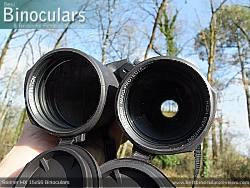 Deeply inset 32mm Objective lens on the Steiner HX 15x56 Binoculars