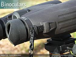 Clic-Loc Neck strap attachment on the Steiner HX 15x56 Binoculars