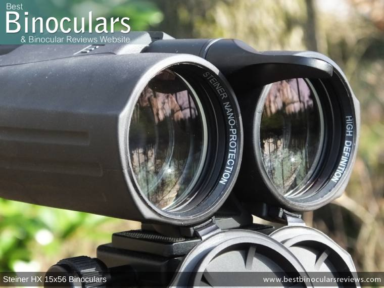 Objective Lenses on the Steiner HX 15x56 Binoculars