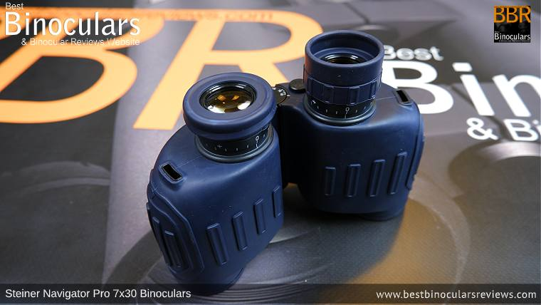 Eyecups on the Steiner Navigator Pro 7x30 binoculars