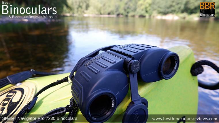 Steiner Navigator Pro 7x30 binoculars on a Kayak