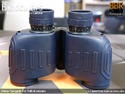 Underside view of the Steiner Navigator Pro 7x30 binoculars