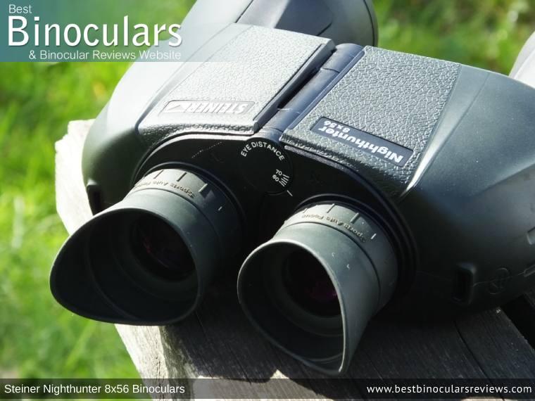 Focus Wheel on the Steiner Nighthunter 8x56 Binoculars