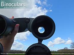 Deeply inset 32mm Objective lens on the Steiner Nighthunter 8x56 Binoculars
