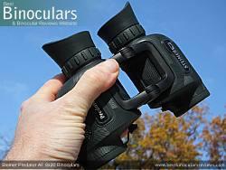 Holding the Steiner Predator AF 8x30 Binoculars