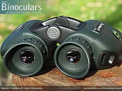 Deeply inset 32mm Objective lens on the Steiner Predator AF 8x30 Binoculars