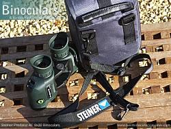 Neck strap on the Steiner Predator AF 8x30 Binoculars