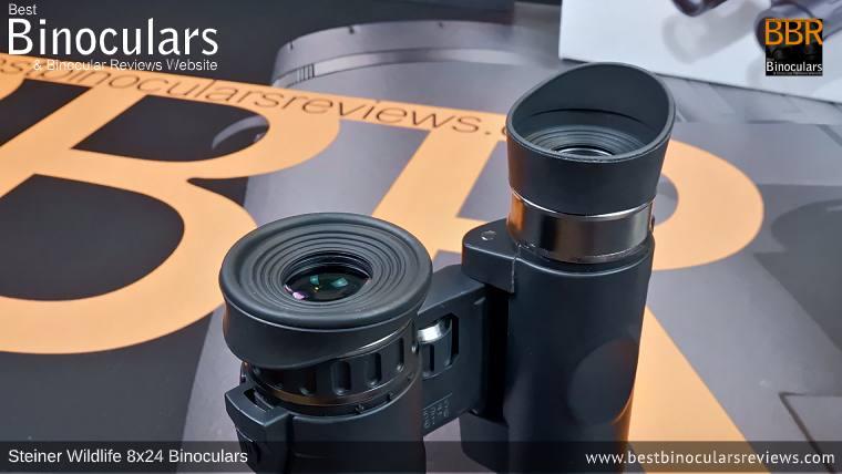 Eyecups on the Steiner Wildlife 8x24 Binoculars