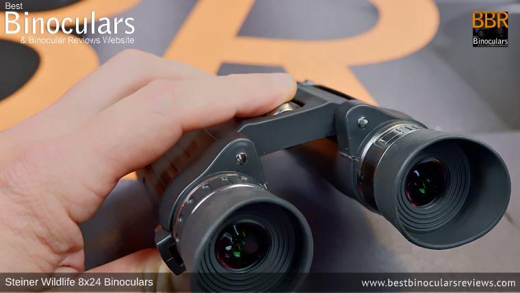 Adjusting the Focus Wheel on the Steiner Wildlife 8x24 Binoculars
