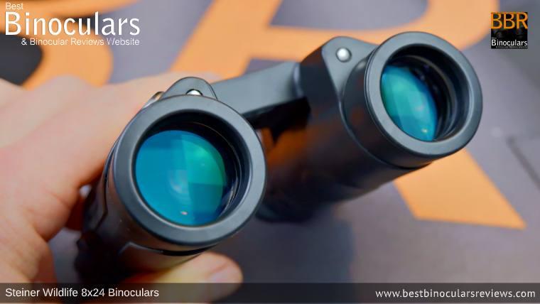 24mm Objective Lenses on the Steiner Wildlife 8x24 Binoculars