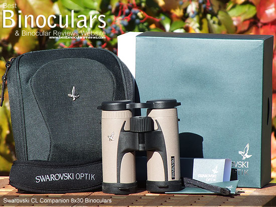 Swarovski 8x30 CL Companion Binoculars with Carry Case, Neck Strap, Wrist Strap and Eye Covers