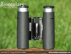 Underside of the Swarovski CL 8x25 Pocket Binoculars