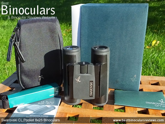Swarovski CL 8x25 Pocket Binoculars with neck strap and case
