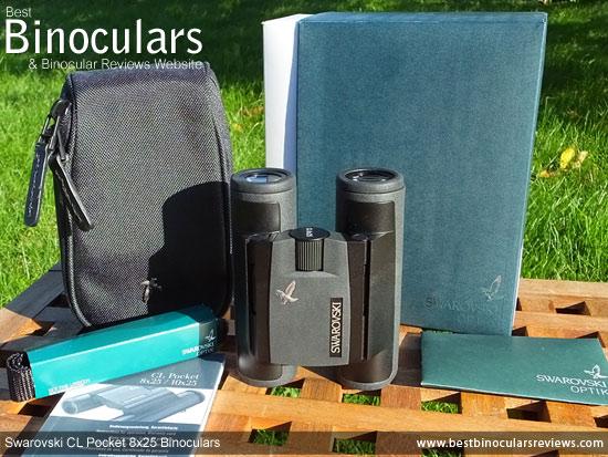 Swarovski CL 8x25 Pocket Binoculars with neck strap and case