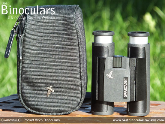 Carry Pouch and the Swarovski CL 8x25 Pocket Binoculars
