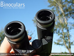 Eyecups on the Swarovski CL 8x25 Pocket Binoculars