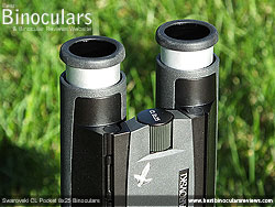Eyecups on the Swarovski CL 8x25 Pocket Binoculars