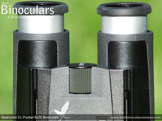 Focus Wheel on the Swarovski CL 8x25 Pocket Binoculars