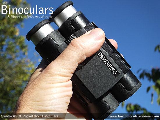 Swarovski CL Pocket 8x25 Binoculars in the palm of my hand