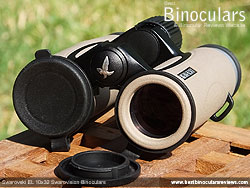 Objective Lens Caps on the Swarovski EL 10x32 Binoculars