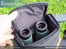 Swarovski EL 8.5x42 Binoculars in the Carry Bag