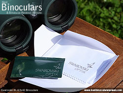 Cleaning Kit supplied with the Swarovski EL 8.5x42 Binoculars