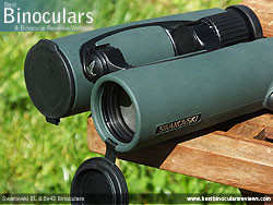 Lens Covers on the Swarovski EL 8.5x42 Binoculars