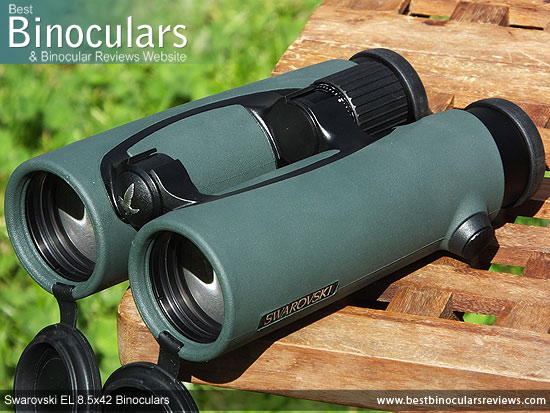 42mm Objective lenses on the Swarovski EL 8.5x42 Binoculars