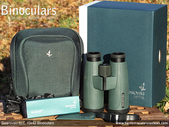 Swarovski SLC 10x42 Binoculars with box and accessories