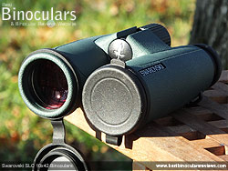 Objective Lens Covers on the Swarovski SLC 10x42 Binoculars