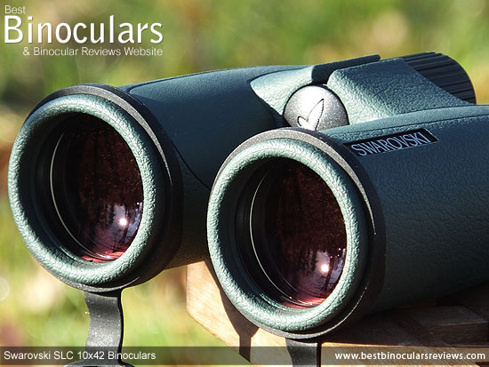 42mm objective lenses on the Swarovski SLC 10x42 Binoculars
