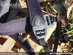 Swarovski SLC 10x42 Binoculars neck strap detail