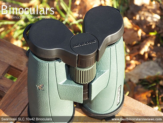 Rainguard on the Swarovski SLC 10x42 Binoculars