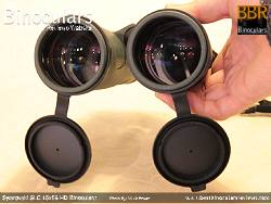 Deeply inset 52mm Objective lens on the Swarovski SLC 15x56 HD Binoculars