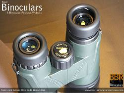 Twist-Up Eyecups on the Tom Lock Series One 8x42 Binoculars
