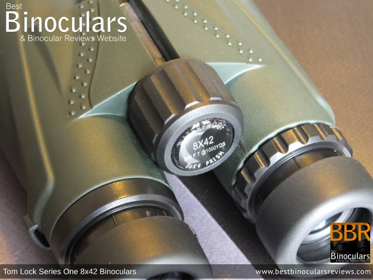 Focus Wheel on the Tom Lock Series One 8x42 Binoculars