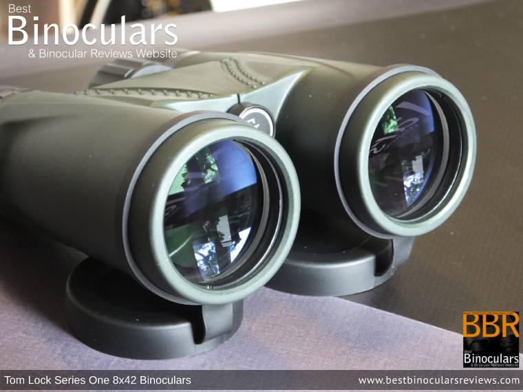 42mm Objective Lenses on the Tom Lock Series One 8x42 Binoculars