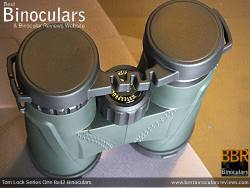 Rain Guard on the Tom Lock Series One 8x42 Binoculars