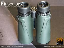 Underside of the Tom Lock Series One 8x42 Binoculars
