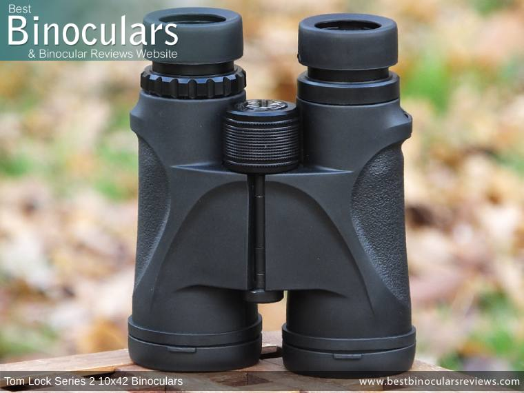Tom Lock Series 2 10x42 Binoculars - Front View