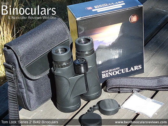 Carry Case & Neck Strap for the Tom Lock Series 2 8x42 Binoculars
