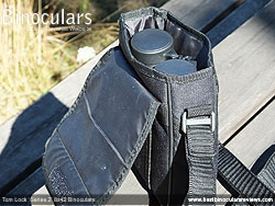 Rear view of the Carry Case for the Tom Lock Series 2 8x42 Binoculars