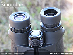 Eyecups on the Tom Lock Series 2 8x42 Binoculars